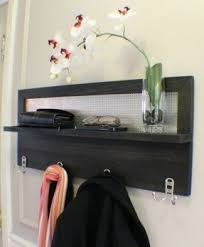 Wall Mounted Coat Rack With Hooks Wall Mounted Shelf With Hooks Foter 79