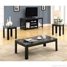3 piece table set black grey b004n5gwby