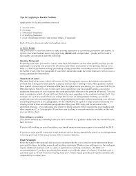 Cover Letter For College Professor 10 Community Instructor Sample