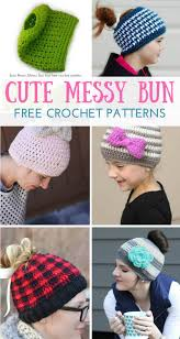 Bun Hat Pattern New Messy Bun Crochet Hat Patterns Daisy Cottage Designs
