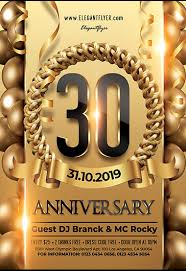 30 Anniversary Free Flyer Psd Template
