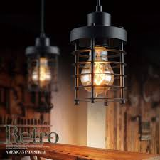 winsoon 1pc modern style metal lamp wall lamp vintage loft pendant light retro cage design all