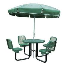 commercial outdoor 36 round table with chairs select your color