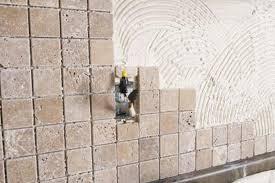 Mortar Vs Tile Adhesive When Installing A Backsplash Home Guides Best How To Install Backsplash Tile Sheets Painting