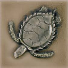 Decorative Relief Tiles LJD Marine Sea Turtle 100x100 Pratt Larson 62