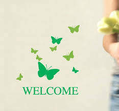 elegant shop store butterfly welcome banner sign sticker advertising poster wall stickerchina mainland cheap elegant furniture