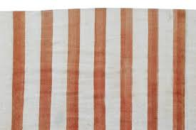 cotton vintage dhurrie rug with stripes for