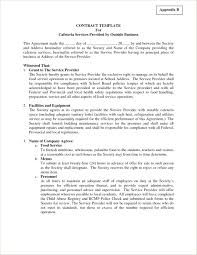 Property Maintenance Contract Template Template Contract Template Between Two Parties 10