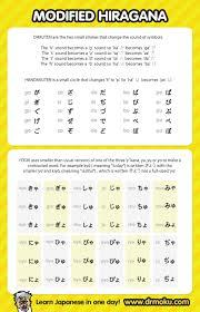 Hiragana Charts Modified Syllabary Hiragana Chart