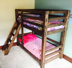 bunk bed with stairs plans. These Bunk Beds Are Unique Because They Easy To Build And Can Be Assembled Disassembled Easily. Ladder Is Integrated Into The Design. Bed With Stairs Plans