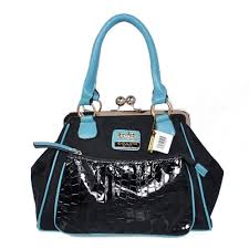 Coach Madison Pinnacle Carrie Medium Blue Satchels BXA