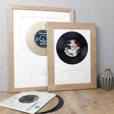 personalised framed vinyl record song