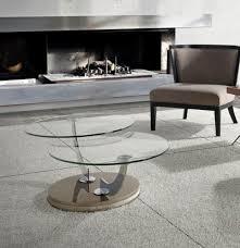 swivel coffee table porto lujo modern round glass swivel coffee table choice of base colour