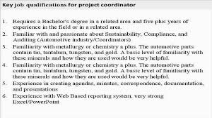 Construction Project Management Examples Junior Project Coordinator