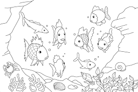 Small Picture E Fish Coloring Pages Kids Qandjco