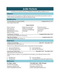 Student Medical Assistant Resume Template