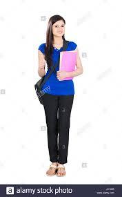 Teenage College Girl Student Thumbsup Success Stock Photo 145087045