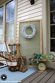 Ideas decorate Hgtv Decorating Doesnt Have To Break The Bank Learn How To Decorate Your Front Hoosier Homemade Front Porch Decorating Ideas On Budget Hoosier Homemade