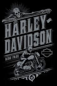 harley davidson ride free poster