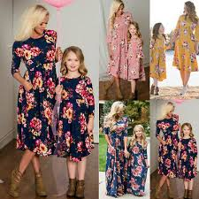 <b>Mother Daughter Family Matching</b> Dress <b>Mommy</b> and Me Floral ...