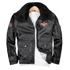 details about genuine maxmaccone coat vintage black leather pilot jacket wool collar