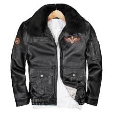 details about genuine maxmaccone coat vintage black leather pilot jacket wool collar