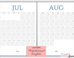 Calendar In Word Document 16 Printable Microsoft Word Calendar Templates Free