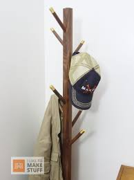 Make A Coat Rack Extraordinary How To Make A Walnut And Brass Coat Rack I Like To Make Stuff