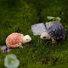 mini turtle tortoise miniature fairy garden decoration diy doll house terrarium micro landscape decoration favors for bridal shower favors for kids from