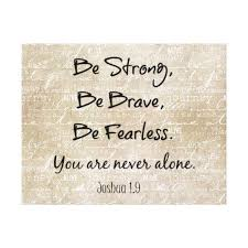Be Strong Brave Fearless Bible Verse Quote Canvas Print Mesmerizing Bible Verse Quotes
