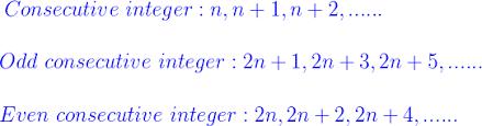 Integers Examples Consecutive Integers Formula Formula For Consecutive Integers