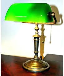 banker desk lamp regarding antique green glass shade home office furniture set parts