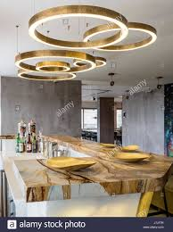Circular Light Fitting Circular Brass Light Fittings Above Stonewood Marble And