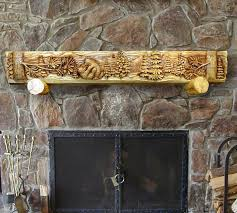 bear cubs playing carved mantel