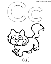 Small Picture Letter C Coloring Pages Preschool and Kindergarten