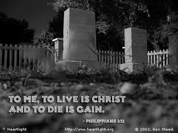 """Philippians 1:21 Illustrated: """"Life or Death"""" — Heartlight® Gallery"""