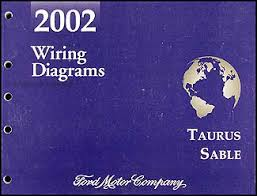 2002 ford taurus mercury sable wiring diagram manual original