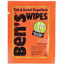 deet travel size bens 30 deet travel size wipes pack 12 distant lands