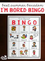 Im Bored Bingo Chart For Kids This Reading Mama