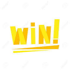 Win Congratulations Sticker With Yellow Letters Design Template