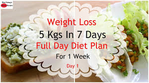 Vegetarian Diet Chart For Weight Loss In 7 Days How To Lose Weight Fast 5kgs In 7 Days Full Day Diet Plan For Weight Loss Lose Weight Fast Day 1