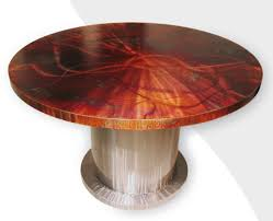 carbon steel 60 round dining table