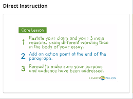 learnzillion review for teachers common sense education a video lesson on writing persuasively reviews the important points to include in a concluding paragraph