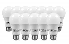 60 watt equivalent slimstyle a19 led light bulb soft white 3000k 12 pack 60w