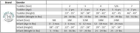 Infant Size Chart 4400 Rabbit Skins Infant Baby Rib Lap Shoulder Onesie
