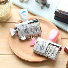 make your own stamp pad beautiful kawaii data roller stamp vintage diy sbooking piecza tka