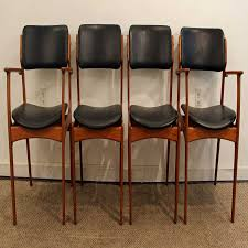 set of four erik buch for o d mobler teak dining chairs at 1stdibs concept for leather