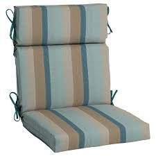 home decorators collection sunbrella gateway mist high back outdoor dining chair cushion