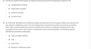 How To Make An Experimental Design Solved 1 In An Experimental Design Why Is It Important