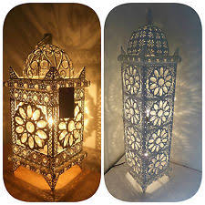 moroccan inspired lighting. Moroccan Style Floor / Table Lamp Jeweled Cutwork Flower Stunning Brand New Inspired Lighting